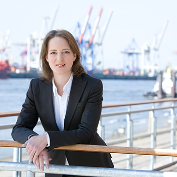 Managerportrait am Hamburger Hafen