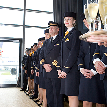 Übergabe A380 an Lufthansa