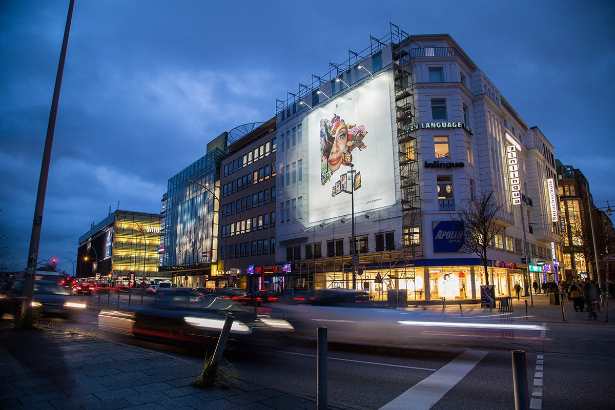 Plakativ Leinwand Hamburger Hauptbahnhof